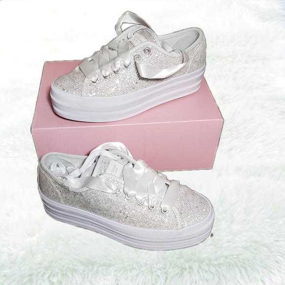 Keds X Kate Spade Triple Up Glitter Size 6